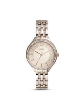 Suitor Three Hand Pastel Pink Stainless Steel Watch by Fossil