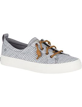 Women's Crest Vibe Chambray Stripe Sneaker by Sperry