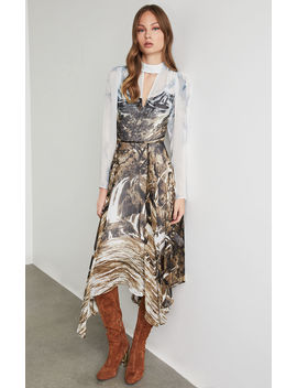 Abstract Landscape Handkerchief Dress by Bcbgmaxazria
