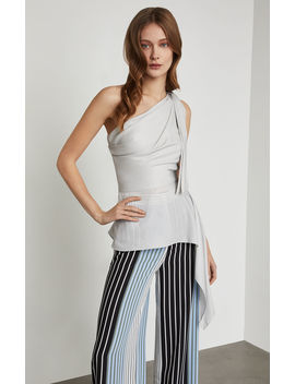 Metallic One Shoulder Top by Bcbgmaxazria