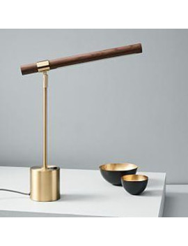 Linear Wood Led Table Lamp + Usb by West Elm