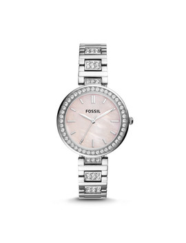Karli Three Hand Stainless Steel Watch by Fossil