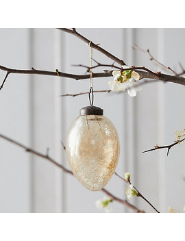 Crackle Glass Egg Ornament by Terrain
