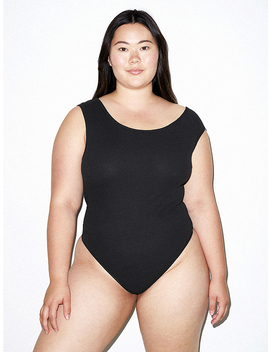 Cotton 2x2 Asymmetrical Bodysuit by American Apparel