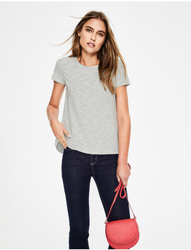 The Cotton Back Detail Tee by Boden