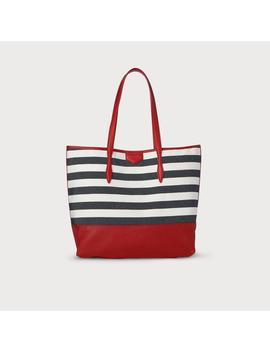 Peggy Red Stripe Canvas Tote by L.K.Bennett