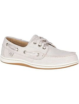 Women's Songfish Linen Boat Shoe by Sperry