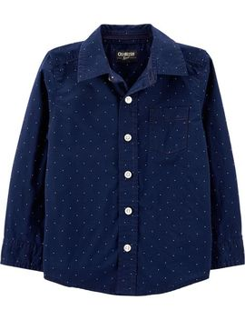 Dot Button Front Shirt by Oshkosh