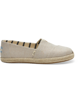 Pearlized Metallic Canvas Women's Espadrilles by Toms