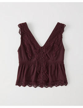 All Over Lace Top by Abercrombie & Fitch