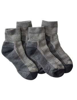 Cresta Wool Blend Hiking Socks, Midweight Quarter Crew Two Pack by L.L.Bean
