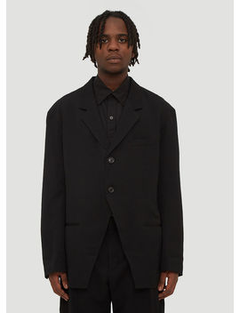 Classic Double Breasted Blazer In Black by Yohji Yamamoto