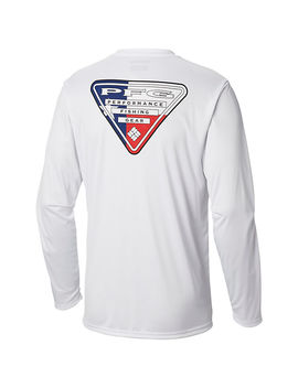 Men's Terminal Tackle Pfg Triangle Flag™ Long Sleeve Shirt by Columbia Sportswear