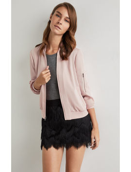 Zip Sleeve Baseball Jacket by Bcbgmaxazria