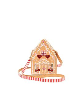 Kitsch Gingerbread House Crossbody Tan by Betsey Johnson
