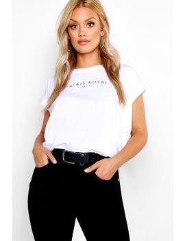 T Shirt Imprimé à Mancherons Et Manches En Coton Plus by Boohoo