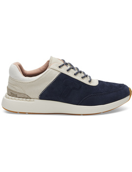 Navy Suede And Canvas Women's Arroyo Sneakers by Toms