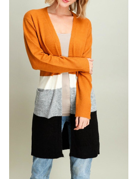 Colorblock Duster Cardigan by Miss Darlin, California