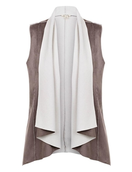 Drape Shearling Vest by Ruthie's , Maine