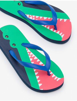 Printed Flip Flops by Boden