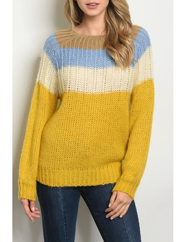 Blue Mustard Sweater by Twill Trad E, Kansas