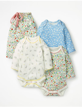 3 Pack Bunnies Bodysuits by Boden