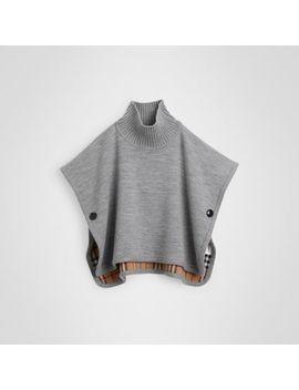 reversible-check-merino-wool-jacquard-poncho by burberry