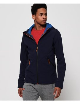 Mountain Softshell Zip Hoodie by Superdry