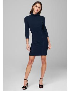 Sweater Turtleneck Dress by Bebe
