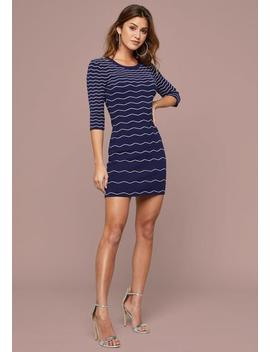 Alessia Scallop Knit Dress by Bebe