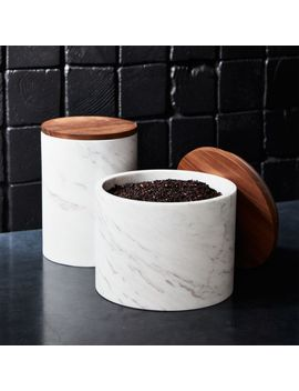 Ishi Marble Canisters by Crate&Barrel