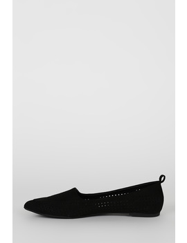 Perforated Pointy Toe Pull Tab Loafer Flat by Urbanog