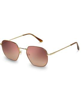Sawyer Yellow Gold Spice Enamel Bronze Double Gradient Mirror Lens by Toms