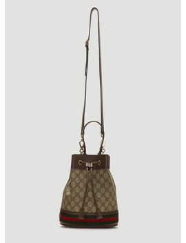 Ophidia Gg Bucket Shoulder Bag In Brown by Gucci