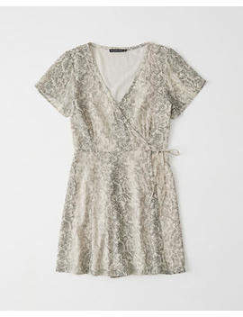 Short Sleeve Wrap Dress by Abercrombie & Fitch