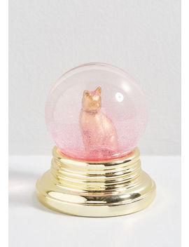 Cat Believe It Snow Globe Bottle Opener by Modcloth