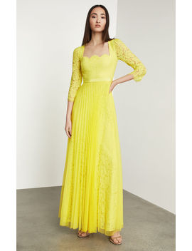 Scalloped Floral Lace Gown by Bcbgmaxazria
