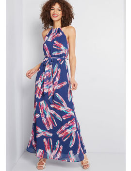 Illuminated Elegance Chiffon Maxi Dress by Modcloth