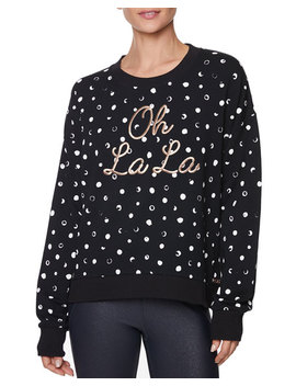 Oh La La Painted Dot Sweatshirt by Betsey Johnson