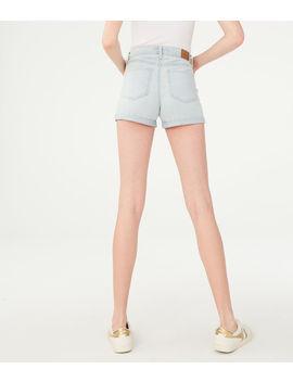 Seriously Stretchy Super High Waisted Denim Midi Shorts*** by Aeropostale