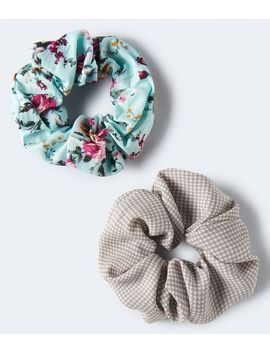 Floral &Amp; Houndstooth Scrunchie 2 Pack by Aeropostale