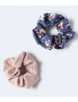 Floral &Amp; Stripe Scrunchie 2 Pack by Aeropostale