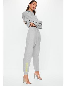 Grey New Season High Waisted Joggers by Missguided