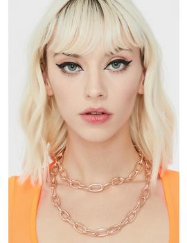 golden-double-edge-chain-necklace by fame-accessories