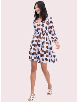 Geo Squares Mini Dress by Kate Spade