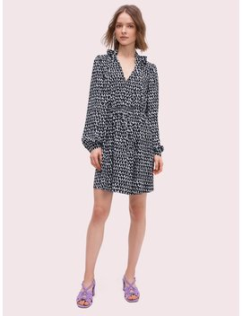 Pop Scallop Crepe Dress by Kate Spade