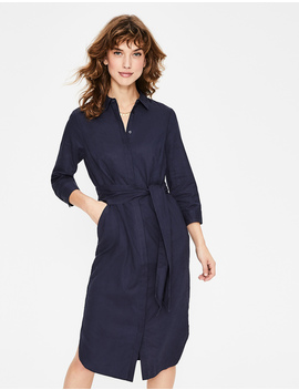 Freya Linen Shirt Dress by Boden