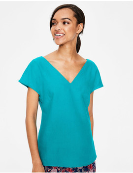 Alexandra Linen Top by Boden