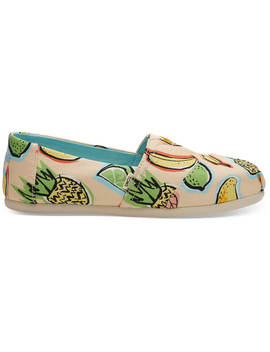 Coral Pink Cuban Fruits Women's Classics by Toms