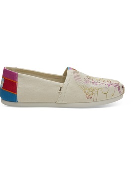 Sesame Street X Toms Vintage Crew Foil Printed Canvas Women's Classics by Toms